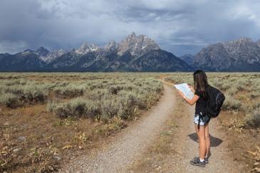 Il Gran Teton si trova vicino allo Yellowstone National Park in Wyoming.