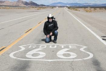 Tiziano Cantatore sul mitico tracciato della US Route 66