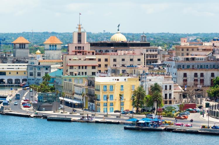Il porto de La Avana, vicino a Plaza Vieja.