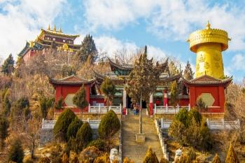 Shangri-La ruota preghiera yunnan