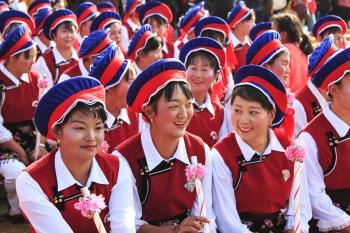 Yunnan costumi tipici etnia bai