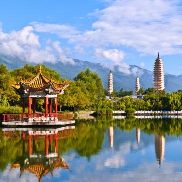 La città di Dali, nella provincia di Yunnan, Cina