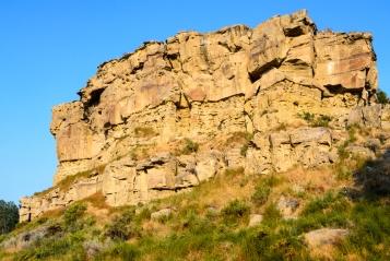 Il profilo del Pompeys Pillar, Billings, Montana