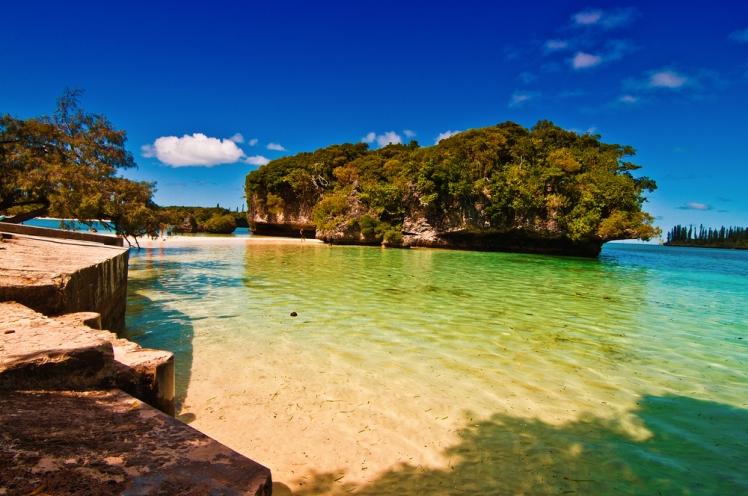 Una spiaggia dell'isola dei Pini, Ile de Pins